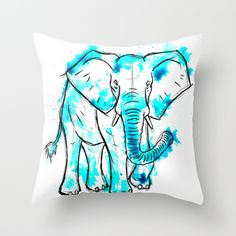 Watercolour elephant available in various products now :)
