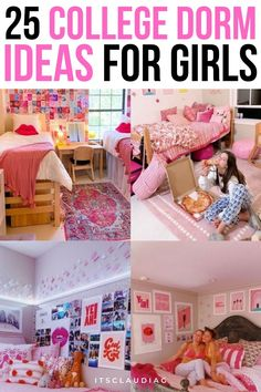 OMG every girl should see these dorm room ideas! They have the best dorm room ideas for girls! From the bedding to the wall decor. If you're going to college this year you must see this. Cool Dorm Rooms, College Dorm Rooms, College Fun, College Hacks, Bedroom Decor On A Budget, Dorm Room Organization, Dorm Essentials, Man Room, Dorm Decorations