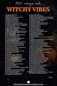 Check out my playlist of songs with witchy vibes. Whether you're looking for something dark and dangerous, light and ethereal or supernatural in nature, you're bound to find it on my Witchy Vibes playlist. Halloween Music, Halloween Tags, Halloween Playlist Music, Halloween Party Songs, Halloween Ideas, Halloween Costumes Adult, Halloween Soundtrack, Halloween Things To Do, Halloween Drinking Games