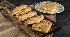 Akis' mom's cheese pie by the Greek chef Akis Petretzikis. A quick and easy recipe for a traditional cheese pie with homemade phyllo and feta! Greek Recipes, Pie Recipes, Raw Food Recipes, Cheese Pie Recipe, Cheese Pies, Eat Greek, Processed Sugar, Quick Easy Meals, Food And Drink