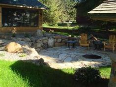 Like the stone wall and in-ground fire pit.