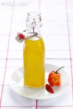 huile d'olive infusée de habaneros / Habanero infused olive oil