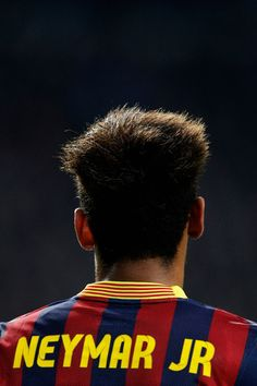 A detailed look at the shirt from Neymar of Barcelona during the UEFA Champions League Group H match between Ajax Amsterdam and FC Barcelona at Amsterdam Arena on November 26, 2013 in Amsterdam, Netherlands.