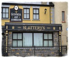 Slatterys Lahinch - Click pub photo image above to purchase your #Pubs of #Ireland Photo Print with PayPal. You do not need a PayPal account to purchase photo. Pubs of Ireland photos are perfect to display in any sitting room, family room, or den to celebrate a family's Irish heritage. $9.00 (plus $5 shipping & handling in USA)
