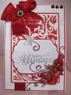 Red Inspirational card by CardMakingMagic on Etsy, £7.95