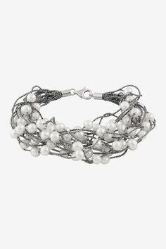 6-7mm Freshwater Pearl Threaded Bracelet