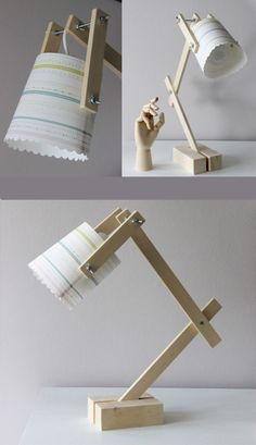 Make a lamp for children - Decor With Wood Rustic Lamps, Wood Lamps, Rustic Desk, Industrial Lamps, Ceiling Lamps, Childrens Lamps, Diy Luminaire, Best Desk Lamp, Kids Lamps