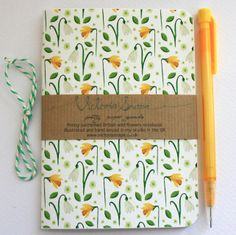 Springtime- British wild flowers- hand bound recycled notebook by Victoria Snape British Wild Flowers, Welsh Gifts, Flower Studio, Color Studies, Bookbinding, Natural Linen, My Flower, Daffodils, Spring Flowers