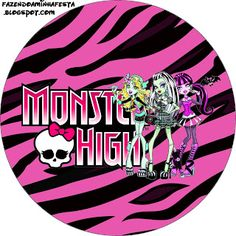 Monster High Free Printable Toppers.