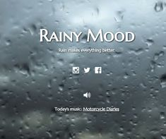 Replicate the moody serenity of a rainy day. | 27 Quirky Websites You Never Knew You Needed