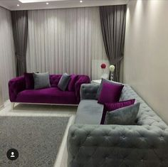 Purple interior design ideas and color combinations 2019 Living Room Color Schemes, Living Room Designs, Interior House Colors, Interior Design, Purple Interior, Modern Sofa Designs, Sala Grande, Living Room Decor Inspiration, Small Room Decor