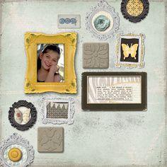 digital scrapbook layout spotlighted 09.09.11