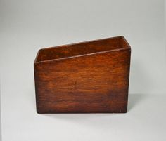 Antique Wood Document Box Desk Accessory File Box by AveryandAllen, $24.00