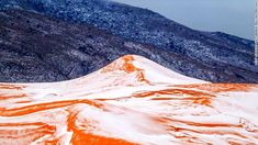 Ain Sefra, Algeria. - a gateway to the Sahara Desert. - received on December 19, 2016 its first snowfall in 37 years. The last previous snowfall was in February 1979. Photo:Karim Bouchetata.