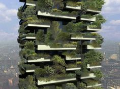 Studio Boeri is now building the first vertical forest that willcontribute to purify the air in the cities, absorb CO2 and dust particles, producing oxygen and protect from radiation and acoustic pollution.