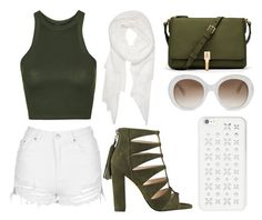 """""""Shorts 👐🏻"""" by sophie552 ❤ liked on Polyvore featuring Topshop, Elizabeth and James, MICHAEL Michael Kors, Gucci and Calvin Klein"""