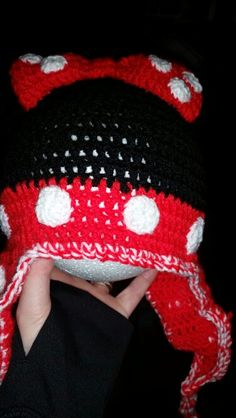 Minnie mouse  crochet hat Crochet Baby, Baby Items, Minnie Mouse, Winter Hats, Beanie, Fashion, Moda, Fashion Styles, Beanies