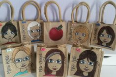 Mini jute bags from £12