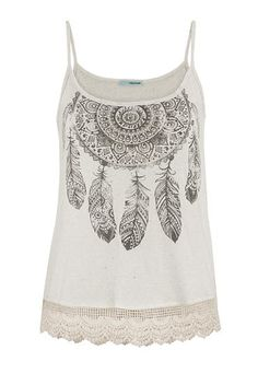 dreamcatcher graphic print tank top (original price, $29) available at #Maurices
