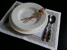 Linen table mate Exclusive by shabby.romantic / Ľanové prestieranie Exclusive