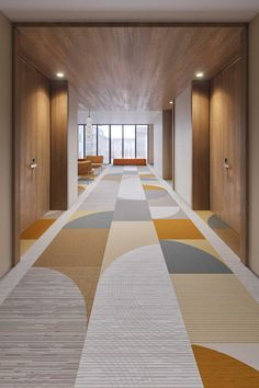 Tarkett Introduces nowHAUS: A Bauhaus-Inspired Flooring Collection - Design Milk Carpet Design, Floor Design, Pop Design, Office Interior Design, Office Interiors, Office Ceiling Design, Commercial Design, Commercial Interiors, Interior Bauhaus