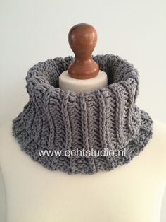 Gratis Haakpatroon col haken. Free crochet pattern looks like knitting!