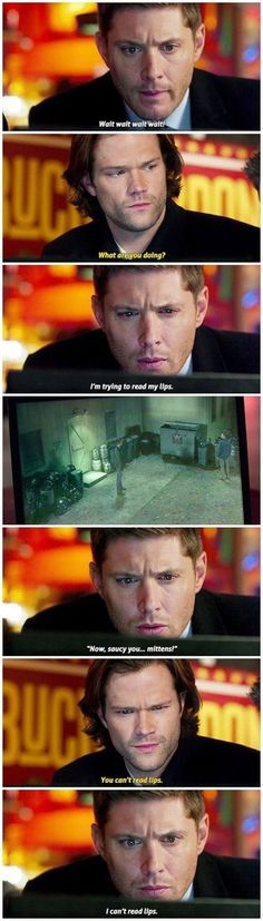 "Gotta love ""Memory Impaired"" Dean 