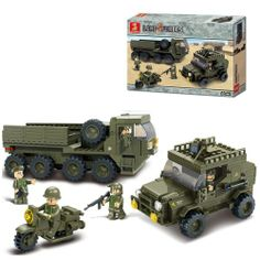 Sluban DIY SERVICE TROOPS Building Blocks Kids Toys - Blue Products- - TopBuy.com.au