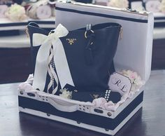 Black & Barely Pink gift tray