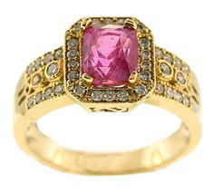 Cushion-Cut Pink Sapphire Ring - Gems for Less - Product Search - JCK Marketplace