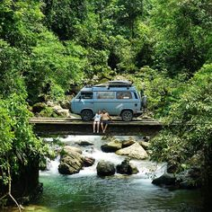 About to get into that cristal clear Amazonian river. #vanlife #woodenbridge #bolivia http://ift.tt/1Xk7dFZ