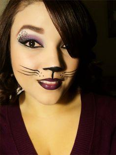 face makeup for halloween | MissyDoll: Sexy Cat Halloween Makeup
