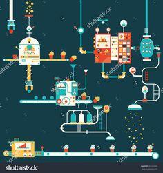 Cupcake factory infographics charts, symbols, graphic elements