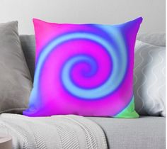 'Bright Pink Turquoise Swirl Abstract' Throw Pillow by donnagrayson Framed Prints, Canvas Prints, Art Prints, Floor Pillows, Throw Pillows, Colorful Pillows, Pink Turquoise, Bright Pink, Art Boards