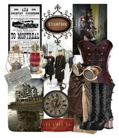"""""""Steampunk railway"""" by jdee77 ❤ liked on Polyvore featuring art"""