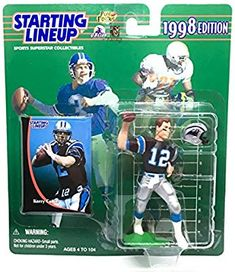 4f94b1c8d Amazon.com  KERRY COLLINS   CAROLINA PANTHERS 1998 NFL Starting Lineup  Action Figure   Exclusive NFL Collector Trading Card  Toys   Games
