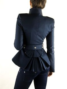 ON SALE DIna Jacket Navy by lauragalic on Etsy