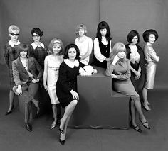 Cilla Black, Lulu, Julie Grant, Marianne Faithful, The Vernon Girls and other 60s celebrities, photo John French. London, UK, 1960s ~*