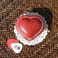 heart pick case [red×white]