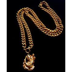 1970's vintage necklace ($62) via Polyvore featuring jewelry, necklaces, vintage charm necklace, charm jewelry, antique necklaces, vintage necklaces and chunk charms