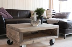 rustic DIY Coffee And End Tables, Rustic Coffee Tables, Pink Home Decor, Solid Pine, Decorating Tips, My House, Ottoman, Sweet Home, Home And Garden