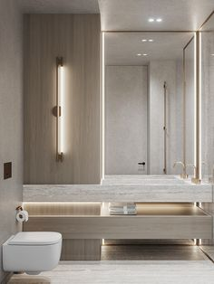 Washroom Design, Bathroom Design Luxury, Modern Bathroom Design, Bathroom Toilets, Small Bathroom, Master Bathroom, Ideas Baños, Bathroom Design Inspiration, Apartment Design