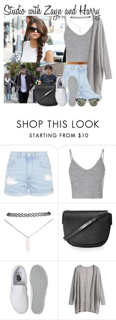 """25. Studio with Zayn and Harry"" by queenxxbee ❤ liked on Polyvore featuring Topshop, Glamorous, Wet Seal, Vans and Ray-Ban"