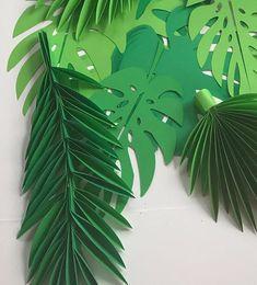 Feuilles de papier vert des feuilles feuilles coupée out