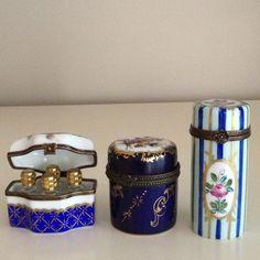 Blue Limoges pots