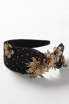 Gilded Blossoms Headband #anthropologie