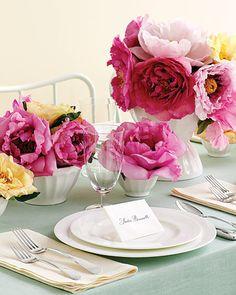 Floral Cafe Au Lait Centerpiece