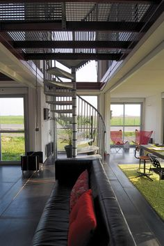 Shipping container home, interior #architecture_architectural_objects If you… Cargo Container Homes, Container Buildings, Container House Design, Container Architecture, Interior Architecture, Sea Containers, Storage Containers, Used Shipping Containers, Shipping Container Homes