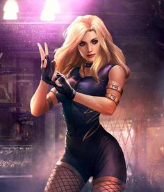 Black Canary from Injustice 2 Mobile Black Canary 2 Heros Comics, Dc Comics Girls, Marvel Girls, Dc Heroes, Marvel Dc, Comic Book Characters, Comic Character, Comic Books Art, Female Characters