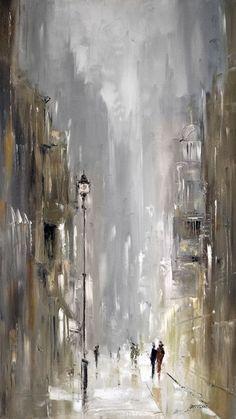 Zeitgenössische Gemäldegalerie – Ölgemälde – Marek La – Merys Stores - Sites new Abstract Painting Easy, City Painting, Abstract Canvas, Abstract Watercolor, Canvas Art, Diy Canvas, Modern Art Paintings, Oil Paintings, Indian Paintings
